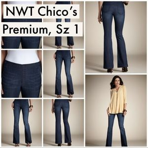 NWT 1S Chico's Platinum Pull on Flare